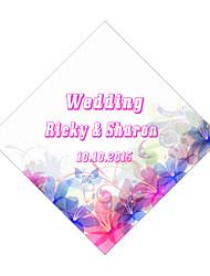 Personalized Wedding Tags Address Labels Envelope Sticker Pink Pattern Of Filmed Paper