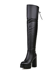 Women's Shoes Chunky Heel Platform Round Toe Over Thee Knee Boots Dress  More Colors available
