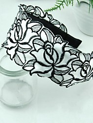 The Rose Embroidered Lace Wide Headband