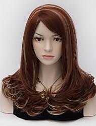 moda mulheres charmosas de médio e longo perucas ruivas partido harajuku lolita