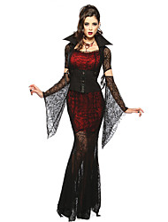 Sexy Vampire Queen Black Chiffon Halloween Vampires Costumes