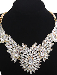 Doban Women's Fashion  Korean-style Multi-gem Beautiful Flower Necklace