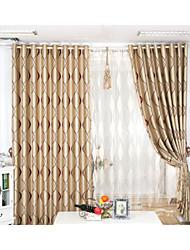 dos paneles de diseño de moda contratada europeo franja jacquard sombreando la sala de estar las cortinas del dormitorio