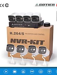 cotier® poe 8ch kit NVR 720p / mini / p2p / h.264 / ip telecamera n8b7 / kit-poe