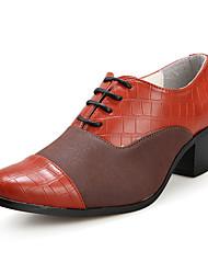 Oxfords ( Cuero , Verde/Naranja/Amarillo/Vino Zapatos de hombre