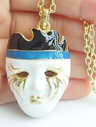 Unique Mask Necklace Pendant
