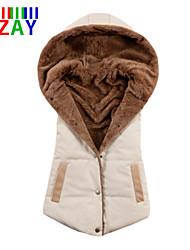 ZAY Women's Fashion All Match Hooded Sleeveless Parka Vest More Colors
