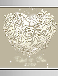 E-HOME® Personalized Signature Canvas Frame- White Roses of Love (Includes Frame)