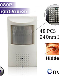 Night Vision Ip Camera 48pcs 940nm Led Pir Network Camera PIR Motion Detector Hidden Built in Microphone 1080P\960P\720P