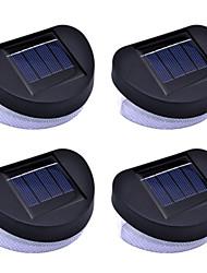 4 packs clôture solaire murale avec 8 leds lumineuses