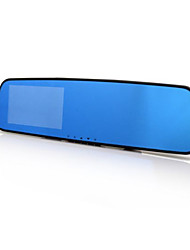 Rear View Mirror Driving Recorder 1080P HD 4.3 Inch Large Screen Blue Mirror With Gravity Sensor