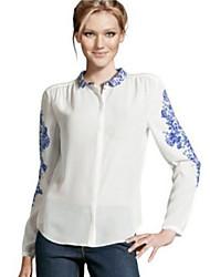 Women's Shirt Collar Casual Shirts , Chiffon Casual/Party/Work Long Sleeve Phylomeya