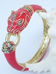 Unique Lion bracelet bangle With Multicolor Rhinestone crystals