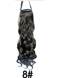 European and American High-temperature Wire Wig Gradient Ponytail  8#