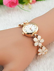 Women's Watch Flower Bracelet Alloy Band Cool Watches Strap Watch Unique Watches Fashion Watch