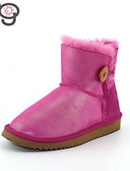 MG 2015 Autumn New Arrive Women's Winter Boots Warm Flat Heel Boots Snow BootsTwinface Sheepskin Shoes