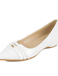 Women's Shoes   Low Heel Pointed Toe Flats Casual White/Beige