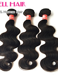 Cheap Brazilian Virgin Hair Straight Human Hair 3 Bundles Wavet Hair 8'-30' Inches Natural Black