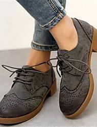 Pour tous les jours ( PU , Noir/Marron/Gris ) Talon bas - 0-3cm pour Chaussures femme