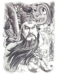 GOODTURN Tattoo Stickers Non Toxic/Lower Back/Waterproof Others /Teen Multicolored Paper 1 19CM*12CM Guan Yu