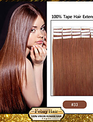 30-50g/pack 16-24inch Indian Remy hair #33 Tape In Human Hair Extensions 006