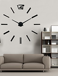 Uermerstar Fashion Design Black color Large Wall Clock Home Decor 3D Diy Clock Diameter 39 in