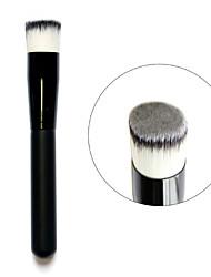 3 Colors Wood Handle Liquid Face Powder Foundation  Flattop Brushes Tool