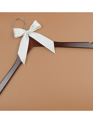 Wood Wedding Dress Hanger with Ivory Bow