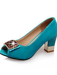 Femme-Bureau & Travail Habillé Soirée & Evénement-Noir Bleu de minuit Rouge Bleu clair-Gros Talon-club de Chaussures-Sandales-Laine