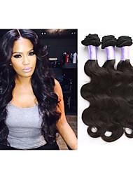 """3pcs / lot 8 """"-34"""" brazillian onda del cuerpo del pelo virginal brasileña del pelo lía la extensión del pelo de visón armadura del pelo"""