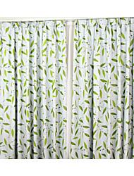 diseño de moda contratado dos paneles europeo deja flores sombra a la sala de estar las cortinas del dormitorio