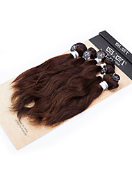 "EVET New Arrival Virgin Brazilian Hair Kinky Curly Human Hair Bundles Color #2 Hair Extensions 4x8"" 200g/lot"