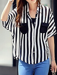Women's  Casual Sexy  Cute   Blouse  (Chiffon)