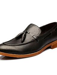 Zapatos de Hombre Boda/Oficina y Trabajo/Fiesta y Noche Cuero Sintético/Cuero Patentado Oxfords Negro/Beige