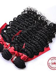 evet pelo peruano virginal lía color natural peruano suelta la onda del pelo teje extensiones del pelo 3pcs / lot 100g / 3.5 oz / pc