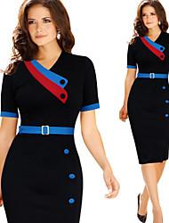 Monta Women's Vintage/Sexy/Casual/Party Pencil Dresses (Cotton Blend)