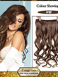 5 clips ondulado mel marrom (# 12) grampo de cabelo sintético em extensões de cabelo para senhoras mais cores disponíveis