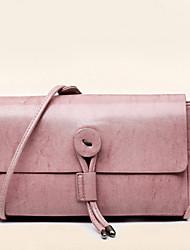 Women PU Flap Shoulder Bag - Pink / Blue / Black