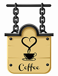 Wall Stickers Wall Decals Style New Coffee Cup PVC Wall Stickers