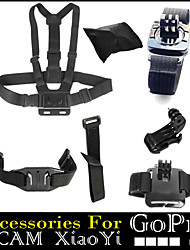 7 in 1 Chest 360 Degree Wrist Helmet Wifi Strap + J hook + Bags Accessories For Gopro Hero 1234 Xiaomi