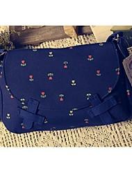 Women 's Canvas Sling Bag Shoulder Bag - Multi-color