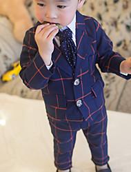 Boy's Check Suit Clothing Sets