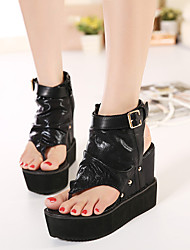 Women's Shoes Wedge Heel Wedges/Platform Sandals Casual Black