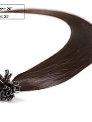 """neitsi 20 """"1g / s queratina 50 g de puntas de uñas u fusión rectas extensiones de cabello humano ombre 2 #"""