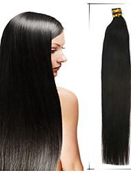 note 5a 1pc / lot 24inch / 60cm multicolores fusion droite / i lève extensions de cheveux cheveu humain tisse 100s / pack 1g / s