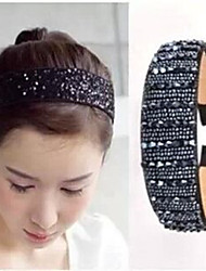 The New Listing Crystal Beads Hair Hoop Head Band A Large Navy