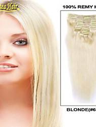 """de hoge kwaliteit human hair verlenging 14 """"-34"""" highlights clip in hair extensions haar weave indian hair"""