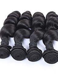 "3pcs/lot 8""-34"" Brazilian Virgin Hair Bundles 300g Unprocessed Human Hair Weaves Brazilian Loose Wave Natural Black"