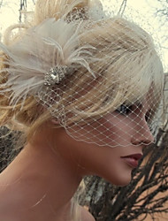 Hand Made Wedding Feather Hair Clip Fascinator Headpieces Fascinators 027
