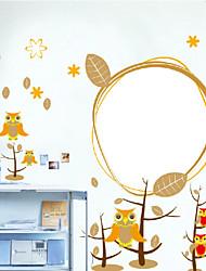 adesivi murali camera da letto gufo dei bambini
